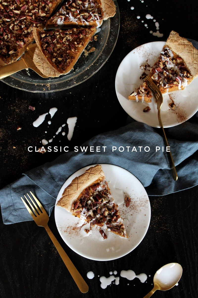 Classic Sweet Potato Pie (sugar-free, gluten-free, & vegan)
