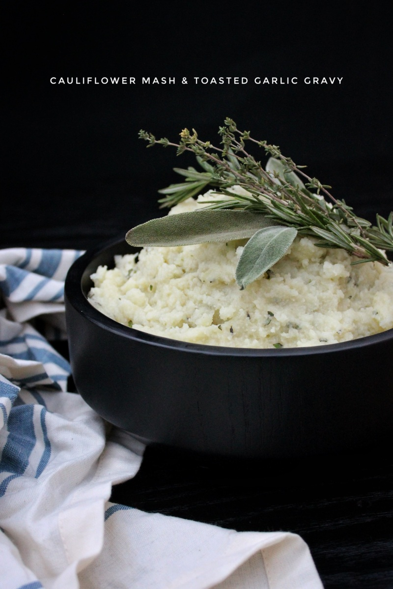 Cauliflower Mash & Toasted Garlic Gravy (vegan & lectin-free)