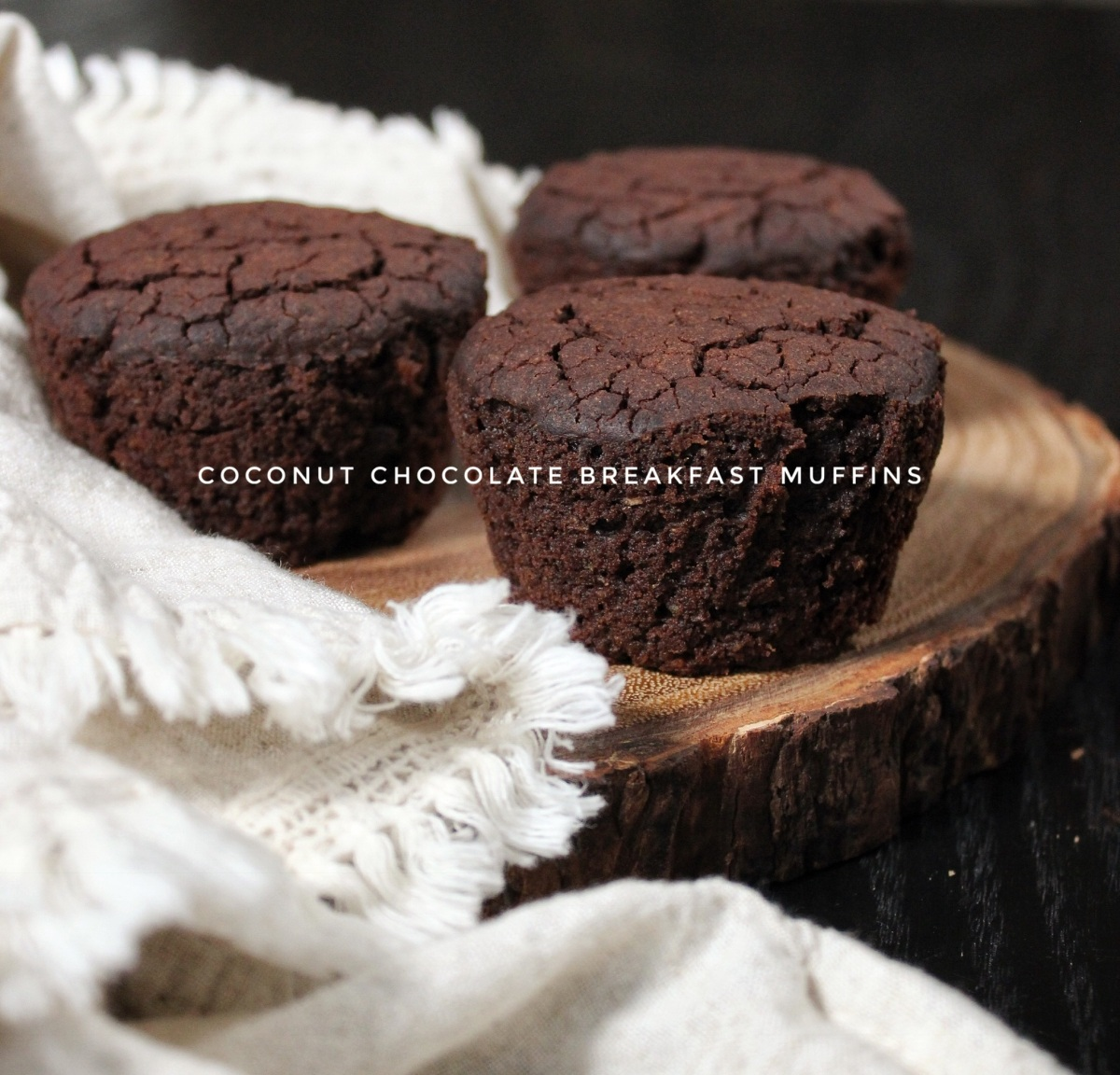 Coconut Chocolate Breakfast Muffins (grain-free, vegan, sugar-free, & Plant-Paradox friendly)