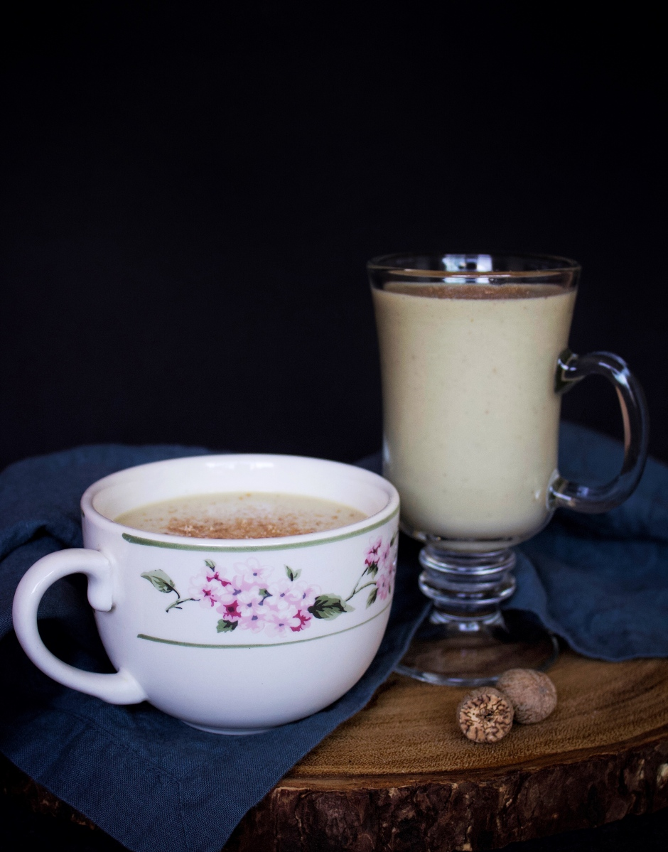 Rich & Nostalgic Vegan Eggnog made with Soy Cream