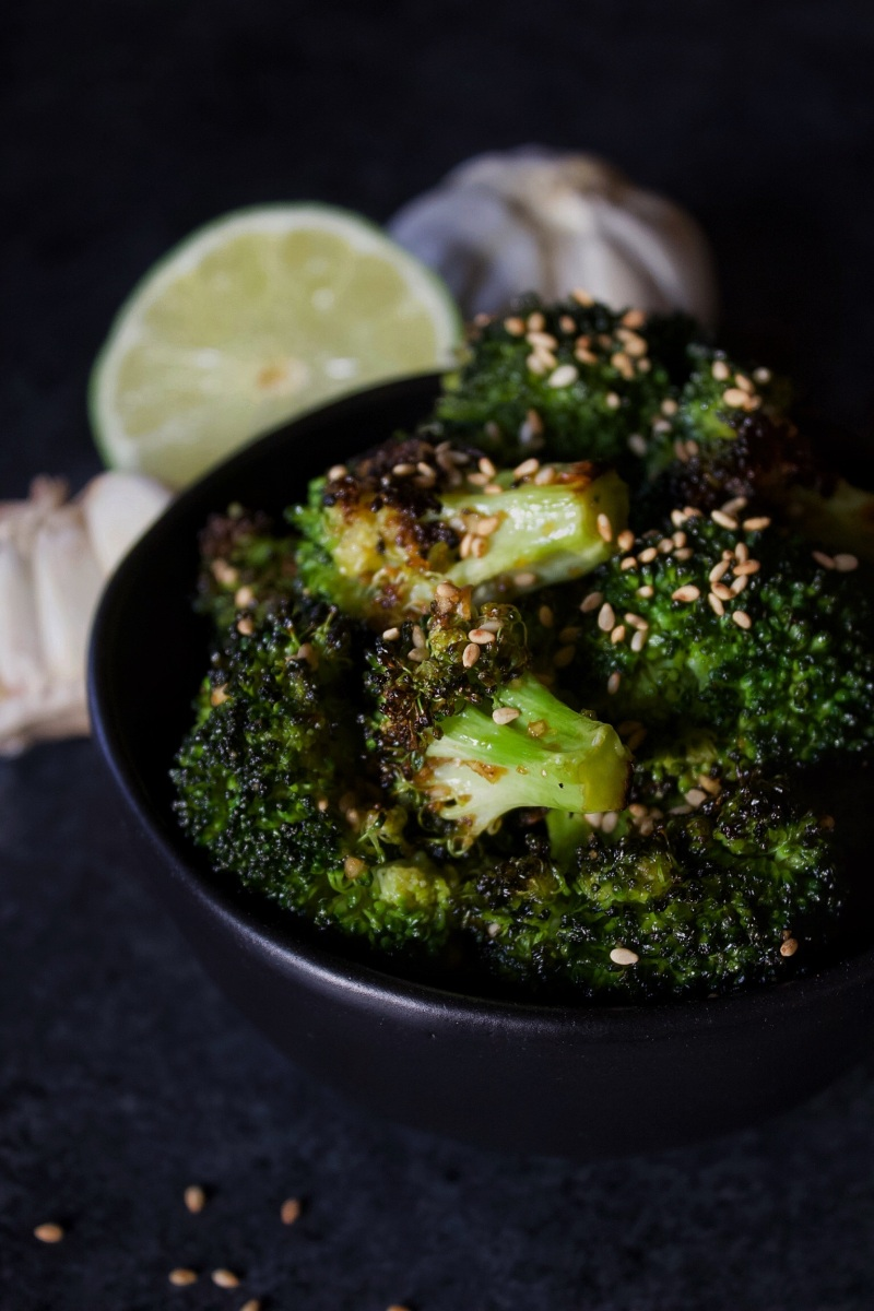 4-Step Charred Sesame Garlic Broccoli